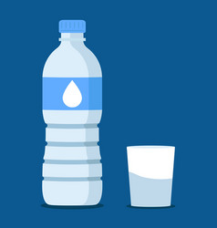water bottle in blue vector image