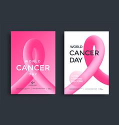 world cancer day poster design vector image