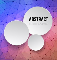 Abstract background with circles Background with vector image vector image