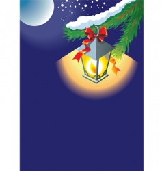 Christmas lantern background vector image