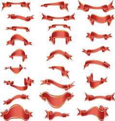 curves ribbons vector image