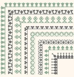 Decorative seamless ornamental border with corner vector image vector image