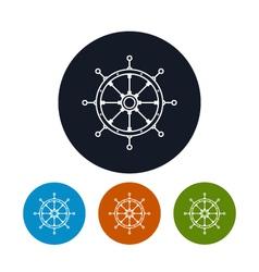 Icon ships wheel vector image vector image