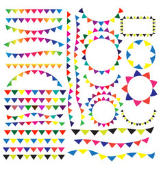 party or festival flag ribbon vector image vector image