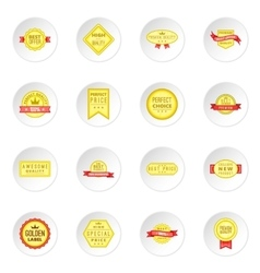 Retail label icons set vector image vector image