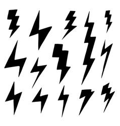 Set of simple lightning doodle group of hand drawn vector image vector image