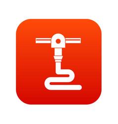 3d printer printing icon digital red vector image