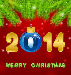 Christmas gold New Year background vector image