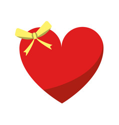 cute love heart passion with bow vector image vector image