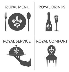 HoReCa business stylized symbols logotype set vector image