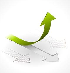 onwards upwards arrows vector image vector image