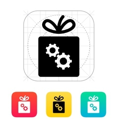 Box with gear icon vector image
