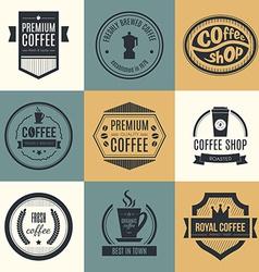 Coffee Shop Logo Collection vector image vector image