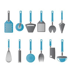 different kind of kitchen accessories vector image vector image