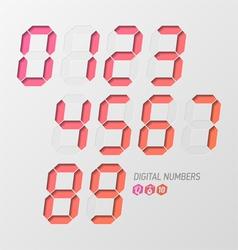 Digital numbers set vector image vector image