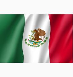 flag mexico realistic icon vector image