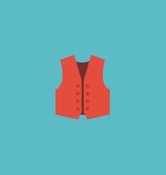 flat icon vest element of vector image