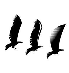 heraldry eagle symbols and tattoo vector image