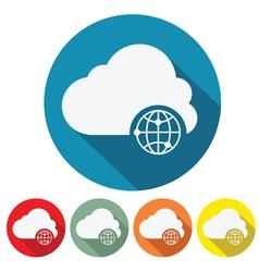 internet cloud web design vector image