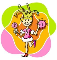 Jester girl vector image