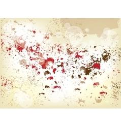 Grunge background with splashes vector