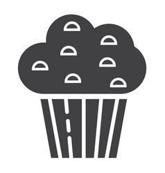 muffin glyph icon food and drink sweet sign vector image