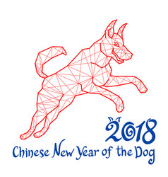 red dog is a symbol 2018 chinese new year of the vector image vector image