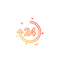 24 hours icon design vector image