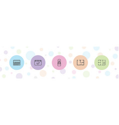 5 plan icons vector