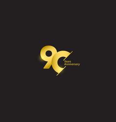 90 years anniversary celebration gold logo vector