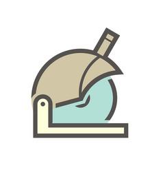 Abrasive saw icon vector