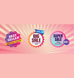 Abstract background with best seller design vector