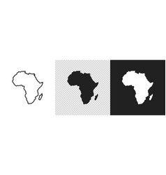 Africa map set icon geography concept abstract vector