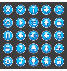 Aqua game buttons vector image