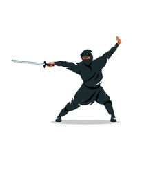 Asian Ninja Cartoon Assasin vector image