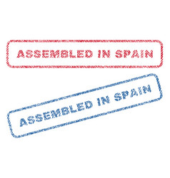 assembled in spain textile stamps vector image