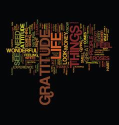 Attitude gratitude text background word vector