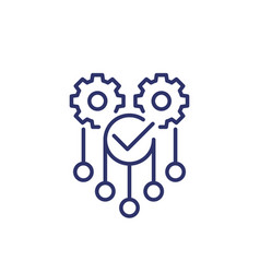 Automation and optimization icon on white line vector