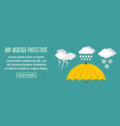 Bad weather protection banner horizontal concept vector