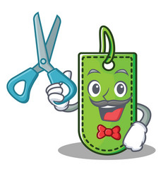 barber price tag character cartoon vector image