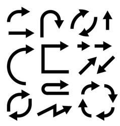 black flat arrows set bold style vector image