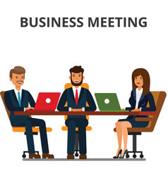business meeting businessmen and businesswoman vector image