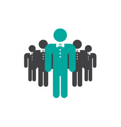 business team leader icon design template isolated vector image