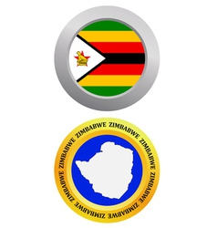 button as a symbol ZIMBABWE vector image