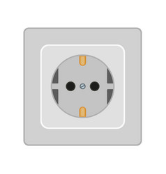 Cartoon gray f type electric socket vector