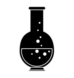 chemistry flask lab vector image