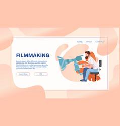 Cinema industry flat vector