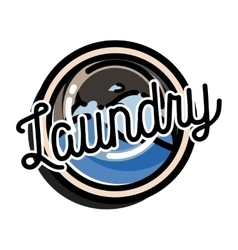 Color vintage laundry emblem vector