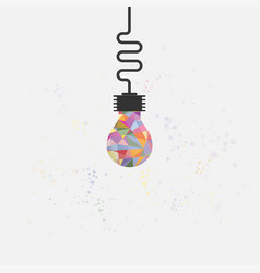 creative bulb light idea abstract design vector image