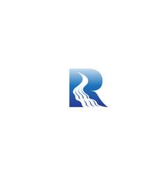 Creative letter r river symbol logo vector